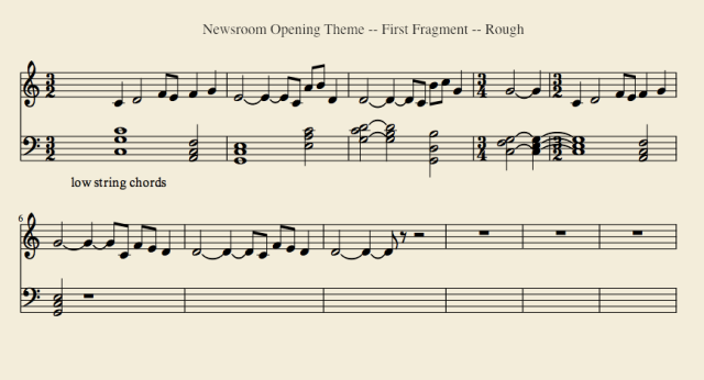 The Newsroom Opening Theme--First Fragment